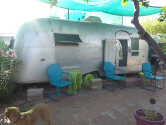 1957 Airstream Flying Cloud 22' Entrance