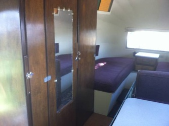 1954 Airstream Safari Bathroom Door
