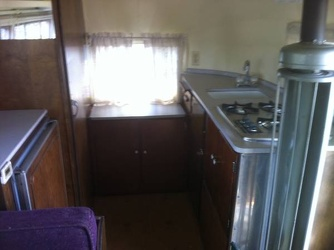 1954 Airstream Safari Kitchen