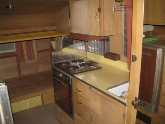 1961 Shasta Deluxe Kitchen