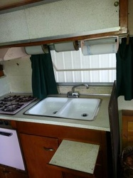 1954 Airstream Land Yacht Kitchen 2