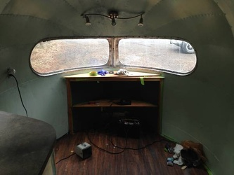 1950 SIlver Streak Clipper Bedroom