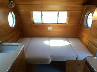 1953 Airfloat Navigator Dinette as Bed