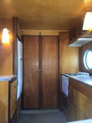 1953 Airfloat Navigator Interior Doors Kitchen Side